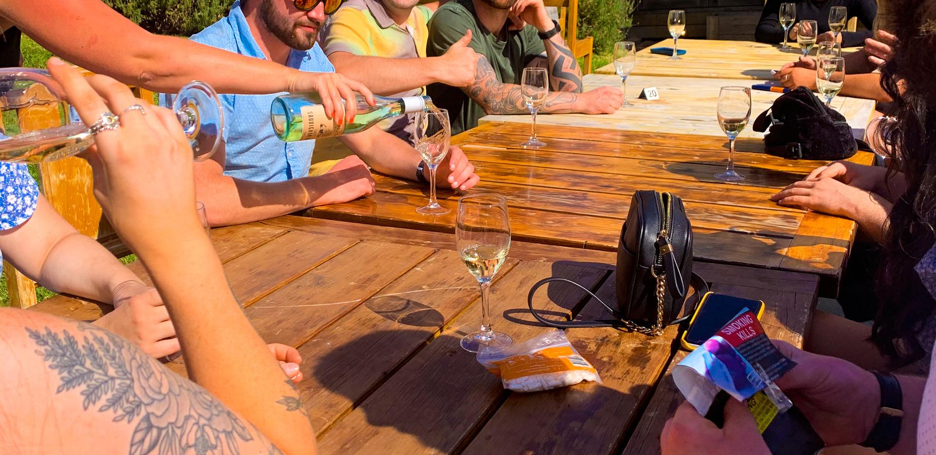 Wine and cider tastings.