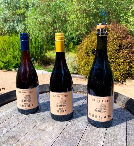 Pinot Noir, Shiraz and Sparkling Shiraz.