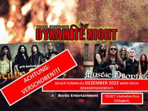 Dynamite Night 2021 verschoben