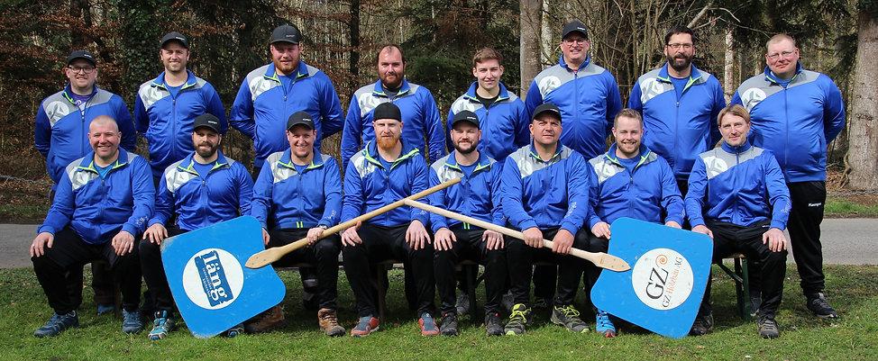 Die A-Mannschaft der Hornussergesellschaft Rüdtligen-Alchenflüh ist bereit für die Saison 2020.