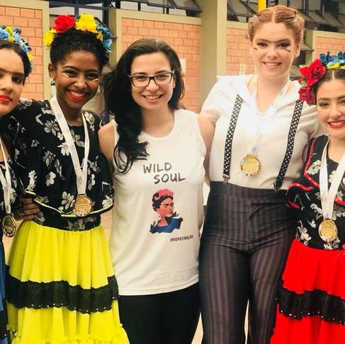 Quarteto com tema FRIDA KAHLO conquista medalha de ouro na Copa Mercosul 2017