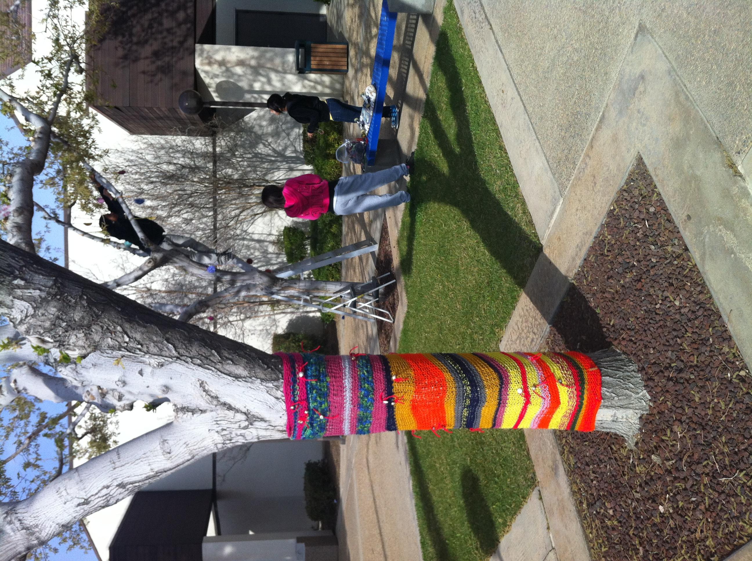 MOAH Yarn Bomb Annual High School Art Lancaster City Hal 2012 (1)