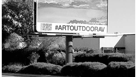 Lancaster art museum using billboards to display artwork