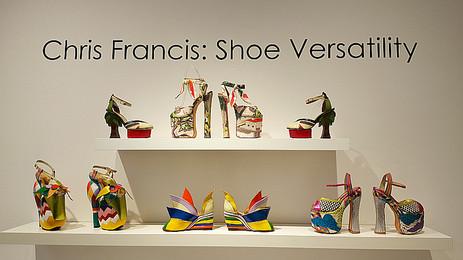 Chris Francis Rock 'n Roll Footwear Exhibition at MOAH Lancaster