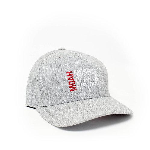 MOAH GRAY TEXTURED BASEBALL CAP
