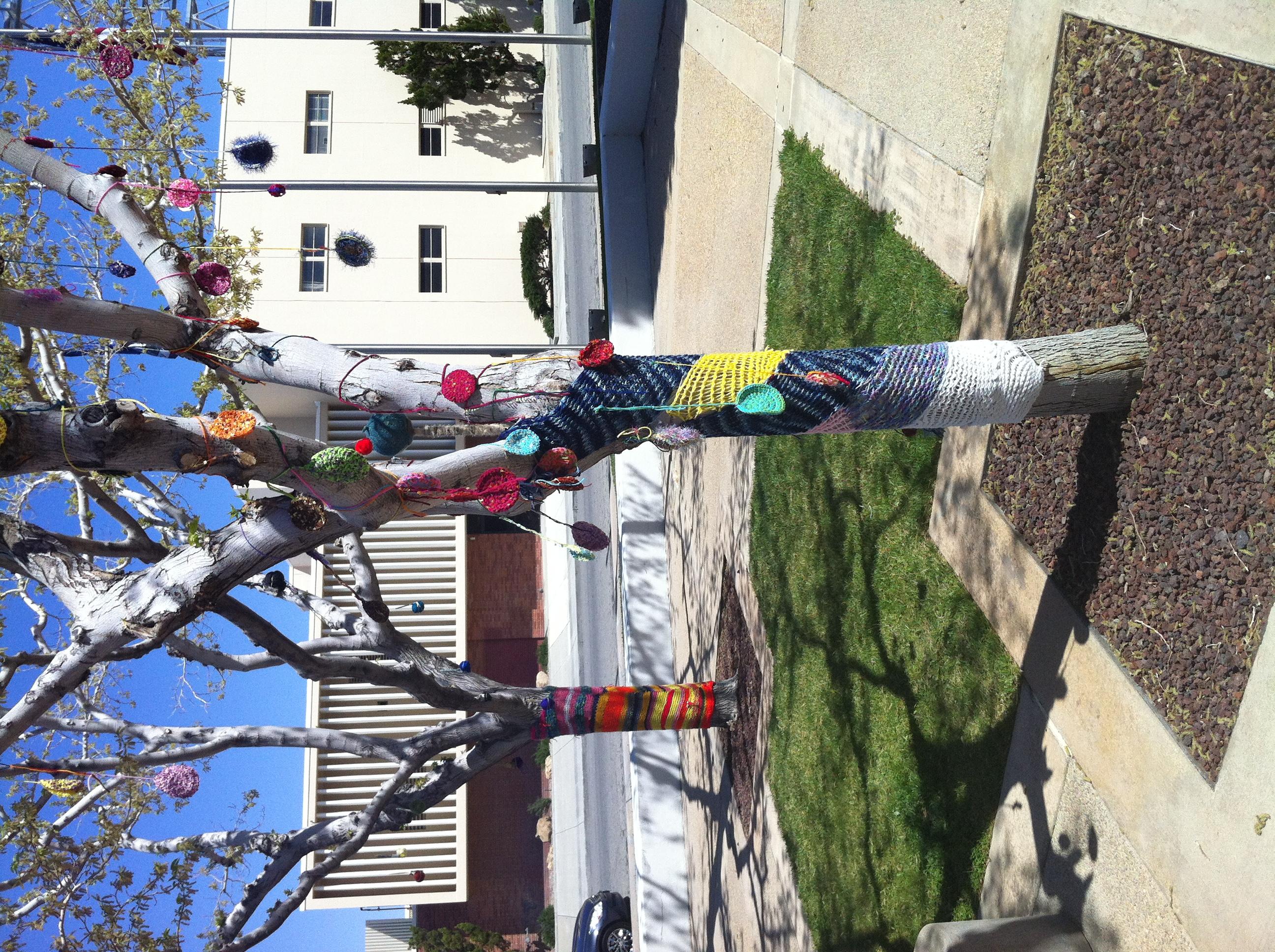 MOAH Yarn Bomb Annual High School Art Lancaster City Hal 2012 (20)