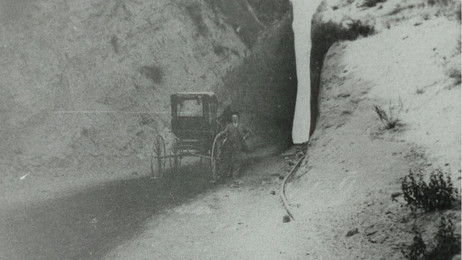 Clarence Gerblick at Beale's Cut (also known as Fremont Pass or Newhall Pass)