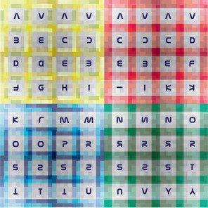 Berry Series – A to Y Branded Goods on 4 x 4 Berry Tartan Pattern ft Cheat Codes A2 Print
