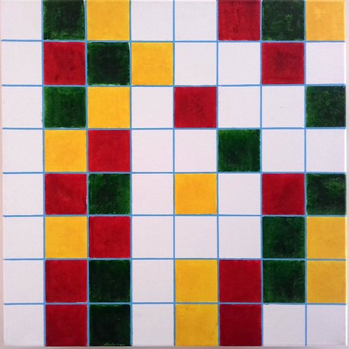GridLock with Traffic Lights GYR - RYG in Binary Code after Piet Mondrian
