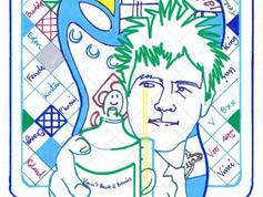 Billie Joe with Blue Guitar