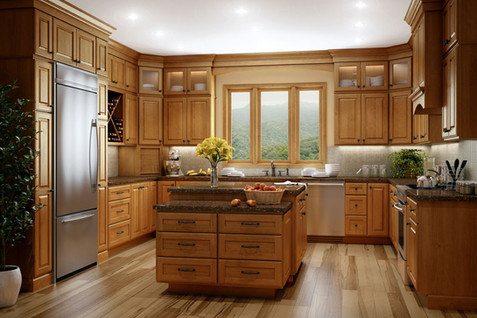 Traditional Stacked Kitchen Design