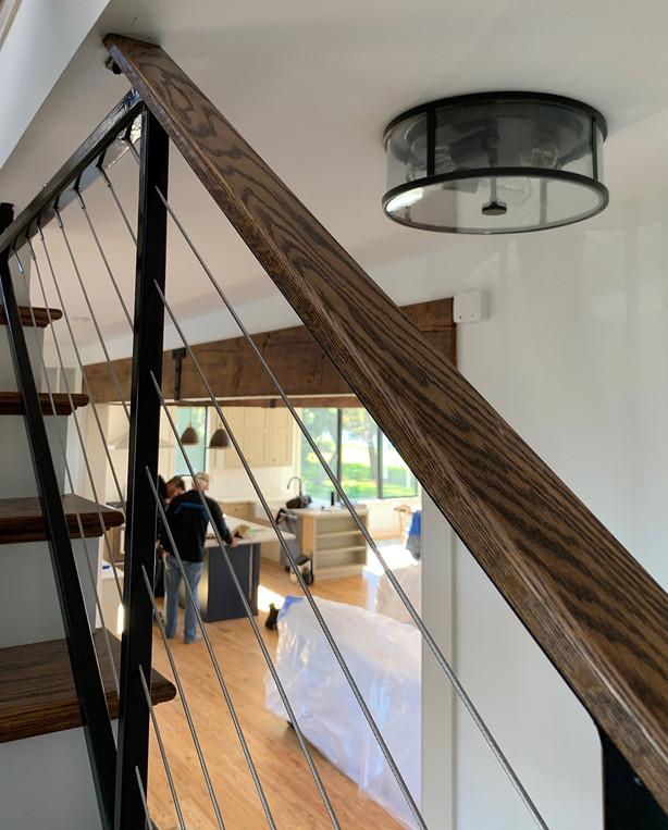 Small Flush Mount Lighting. Interior Design by Dawn Crovo