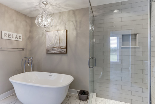 Soothing Master Soaker Tub. Interior design by Dawn Crovo