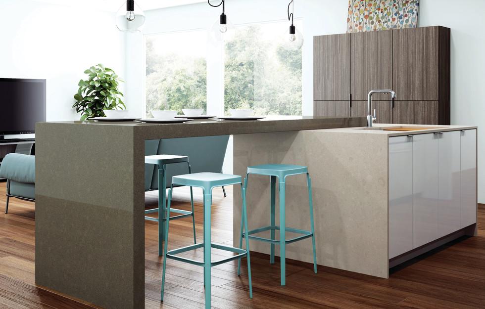 Mocha Contemporary New Kitchen