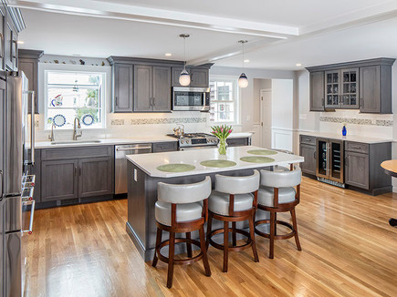 Stained Gray Kitchen Design
