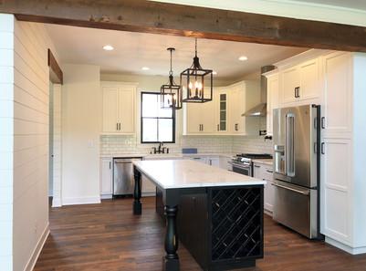 Modern Farmhouse Kitchen. Interior Design by Dawn Crovo.