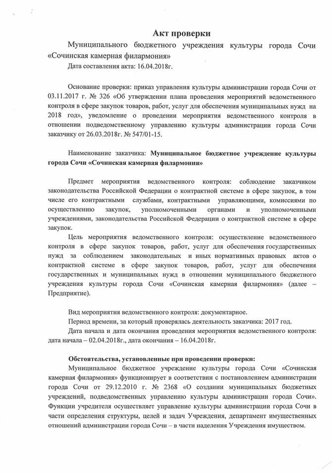 Акт проверки от 04.2018
