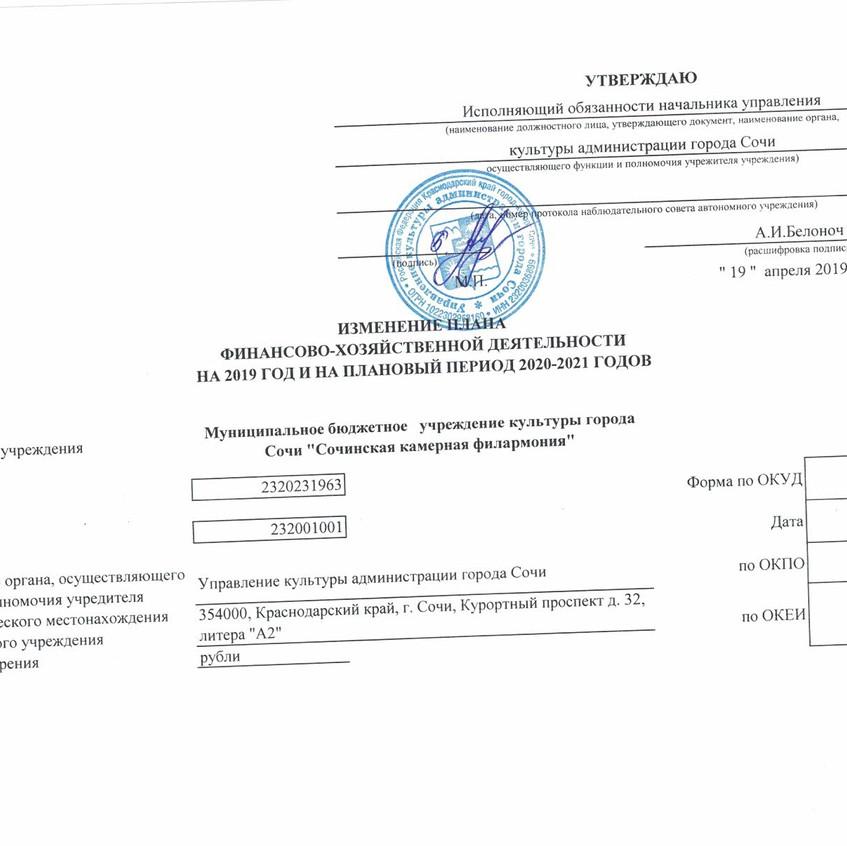 Изменения ПФХД 04.201912062019