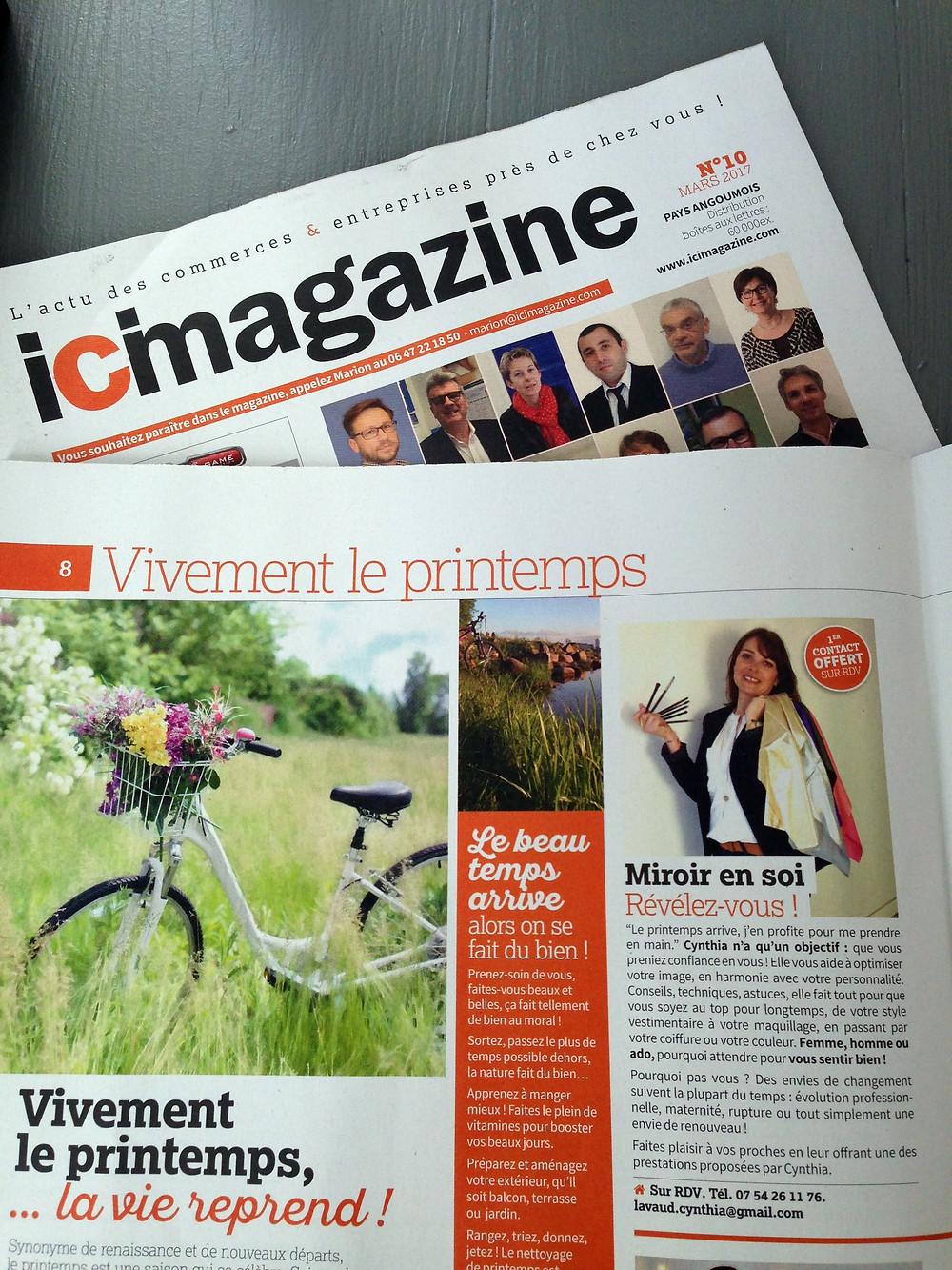 Miroir en Soi dans Ici Magazine à Angouême