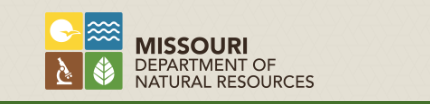 MO Department of Natural Resources logo.