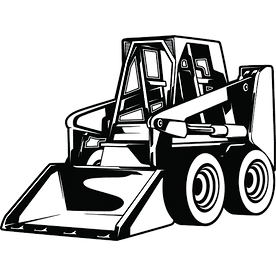 Skid steer black and white il_794xN.1743