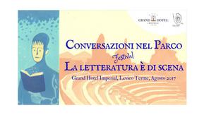 A Levico Terme la rassegna Conversazioni nel parco – La letteratura è di scena, agosto 2017