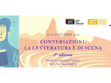 Conversazioni – La letteratura è di scena, la terza edizione nel 2019 a Bari