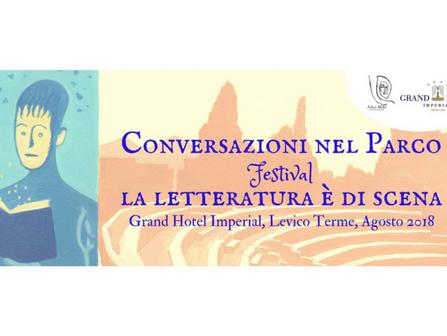 """La II edizione di """"Conversazioni nel Parco – La letteratura è di scena"""" ad agosto 2018"""