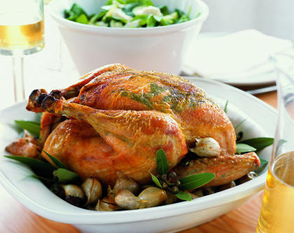 EZ roasted chicken and homeade bone broth