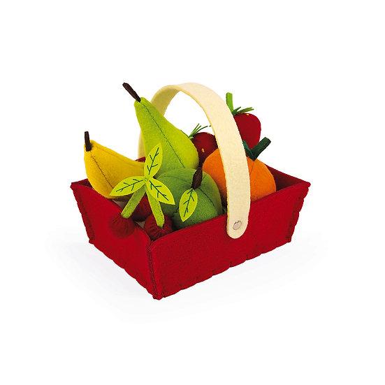 Janod Cesta con 8 Frutti in Tessuto J06577