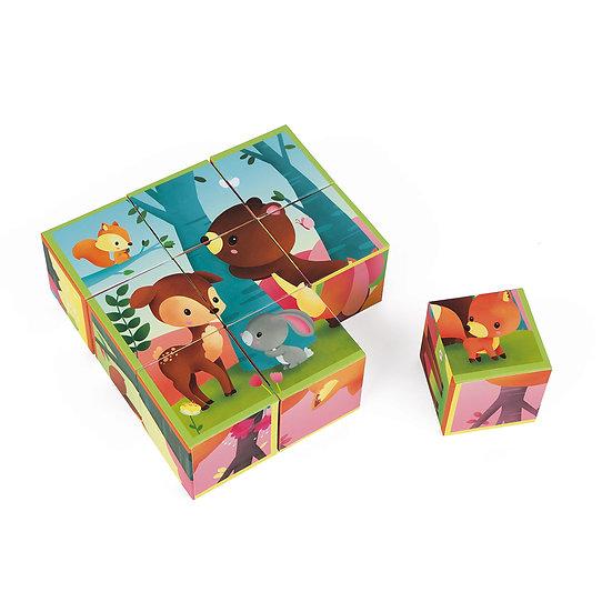 Janod Puzzle Kubkid Animali della Foresta J02731