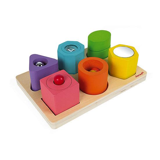 Janod Puzzle 6 Cubi Sensoriali J05332