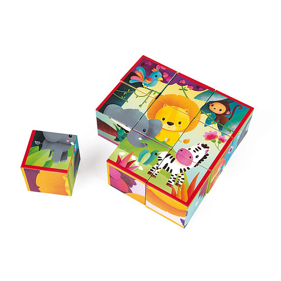 Janod Puzzle Kubkid Animali della Giungla J02732