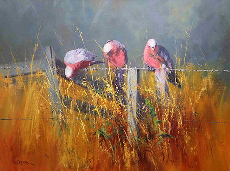 Ted Lewis | Birds on a Wire | 76x100.jpe