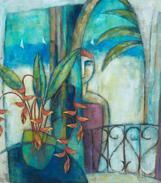 Wendy Wooden | Tropical Encounter | 90x8