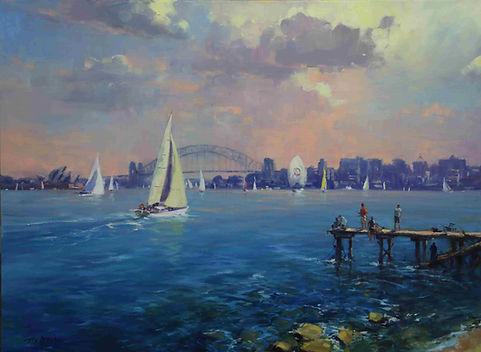 Ted Lewis | Sydney Harbour Sailing | 76x