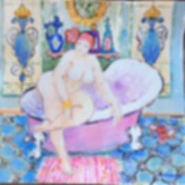 Eva Hannah   Lad in the Boudoir 48x50.jp