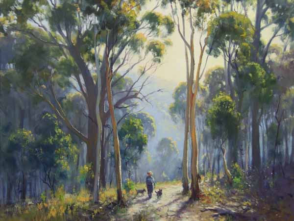 Ted Lewis | Walking the Dogs | 24x30 .jp