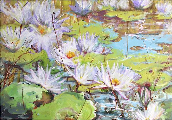 Dianne Ogg - Waterlilies-Serenity Botswa