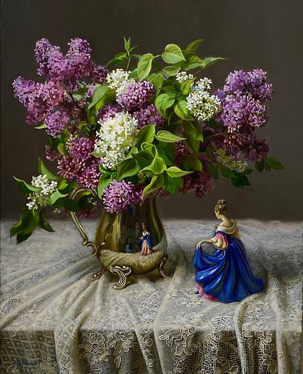 Ann Morton _ Lilac & Blue Lady Reflectio