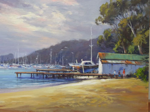 Ted Lewis | Boat Shed | 30x40.jpg