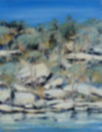 Jan Stapleton | River & Blue Gums | 80x7