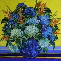 Mignon Parker Blue Hydrangea's | 76x76