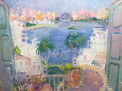 Eva Hannah | Balcony View | 78 x 75
