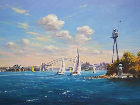 Ted Lewis | Sails on the Harbour from Br