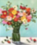 Belinda Black | Poppies in Glass | 60 x