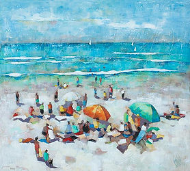 Wendy Wooden | Weekend in Noosa | 80x80.