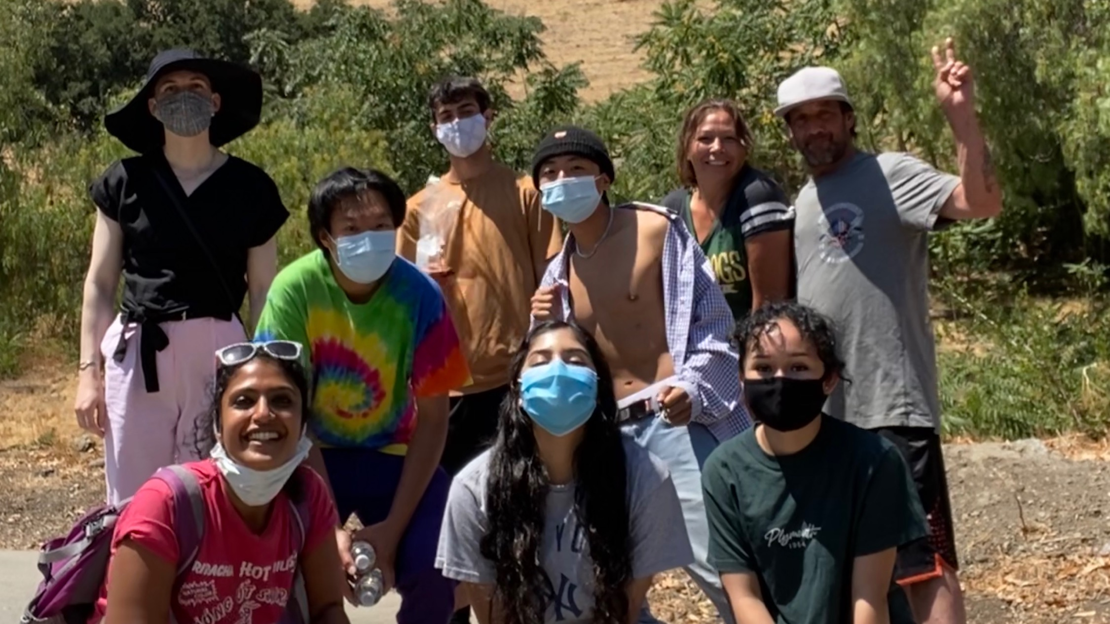 The Renegang with a few unhoused neighbors we've gotten to meet and become friends with!