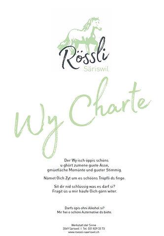 Wein Karte Rössli Säriswil 05.2020