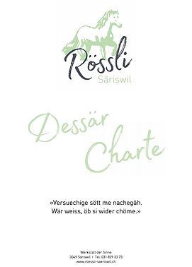 Dessert Karte Rössli Säriswil 05.2020